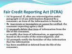 fair credit reporting act fcra1