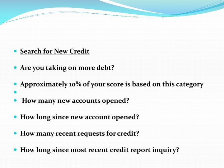 Search for New Credit