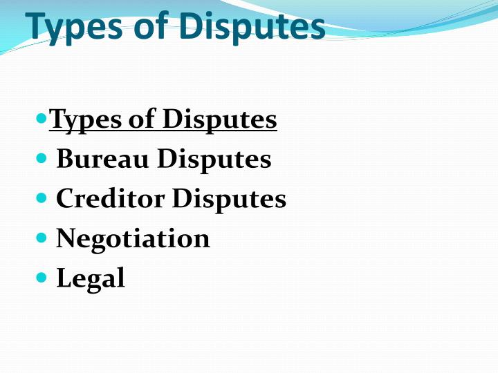 Types of Disputes