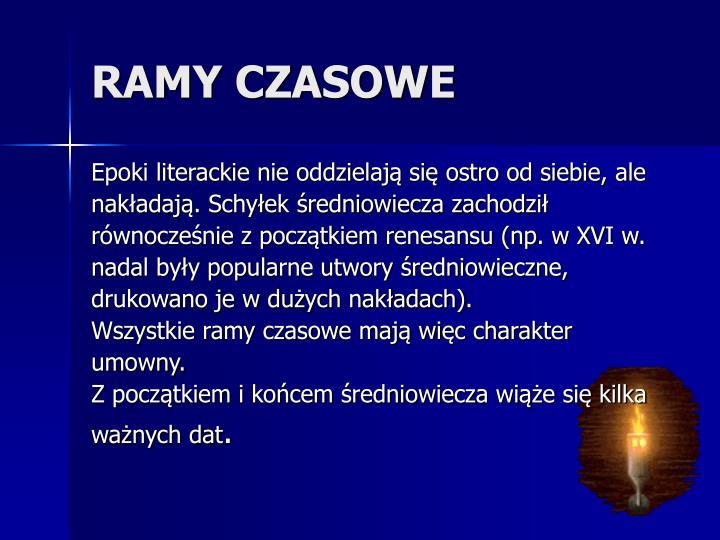 RAMY CZASOWE