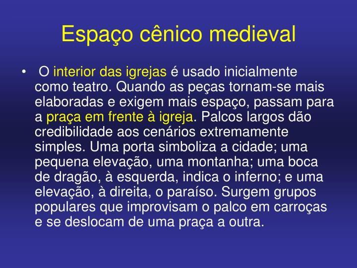 Espaço cênico medieval