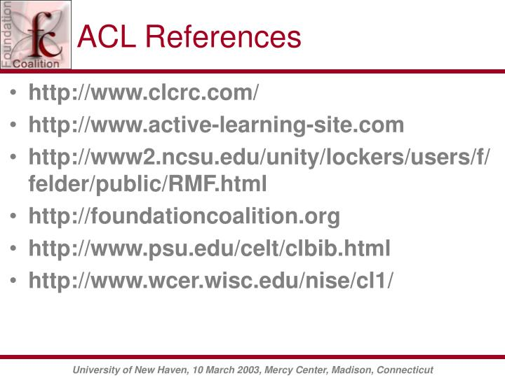 ACL References
