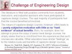 challenge of engineering design