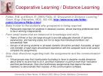 cooperative learning distance learning