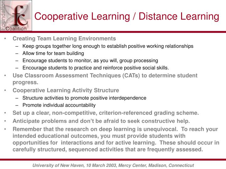 Cooperative Learning / Distance Learning
