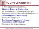 fc core competencies