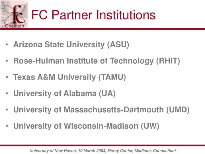 FC Partner Institutions