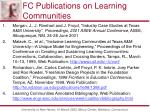 fc publications on learning communities