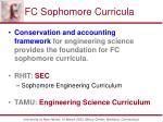 fc sophomore curricula