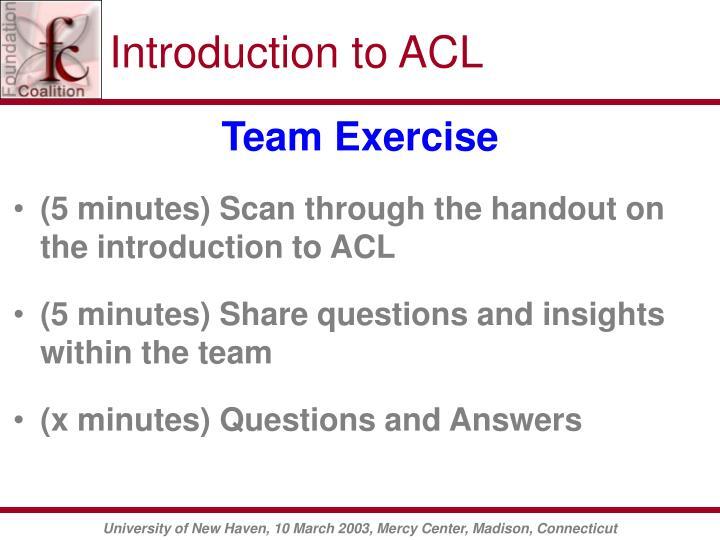 Introduction to ACL