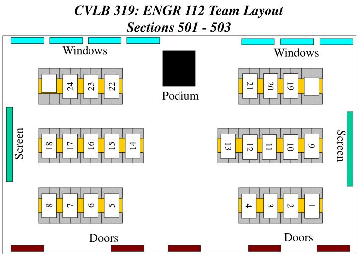 CVLB 319: ENGR 112 Team Layout