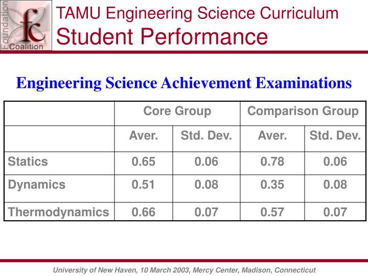 TAMU Engineering Science Curriculum