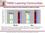 tamu learning communities