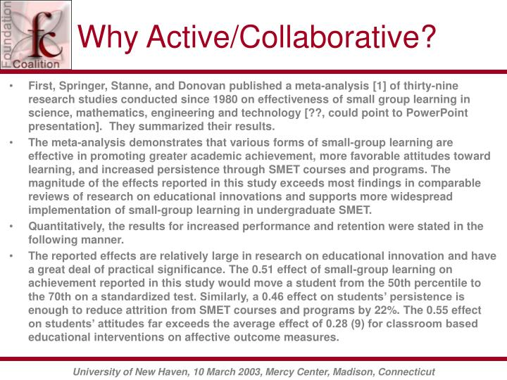 Why Active/Collaborative?
