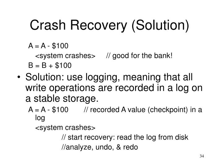Crash Recovery (Solution)