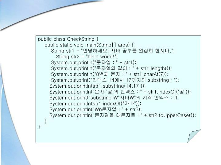 public class CheckString {