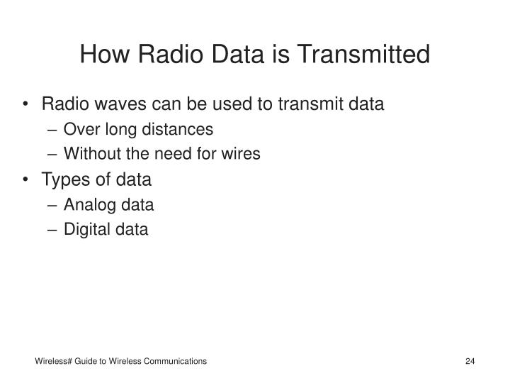 How Radio Data is Transmitted