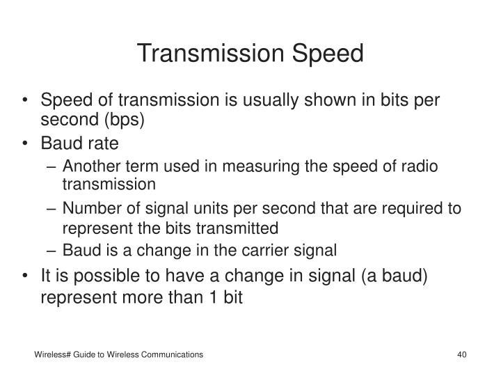 Transmission Speed