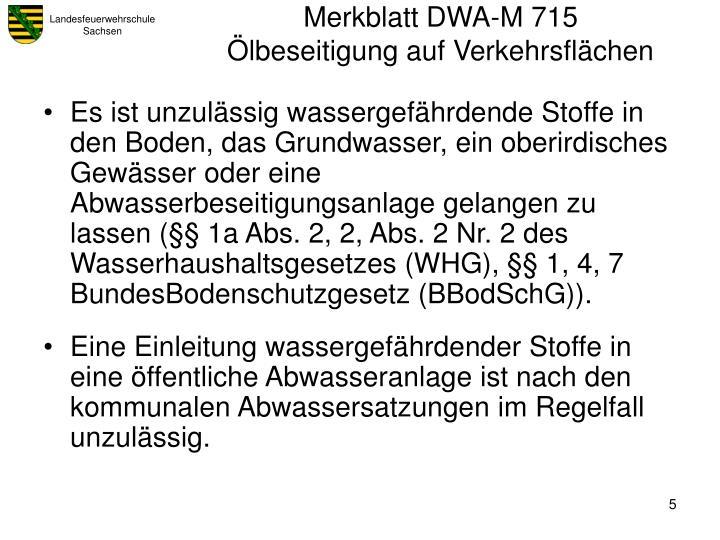 Merkblatt DWA-M 715