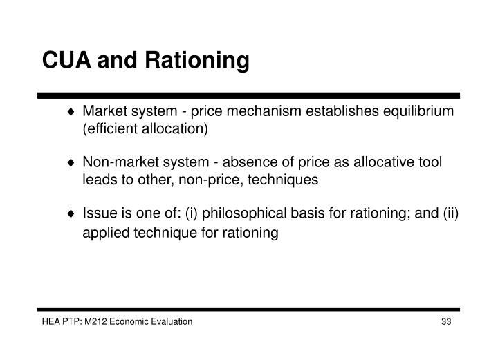 CUA and Rationing