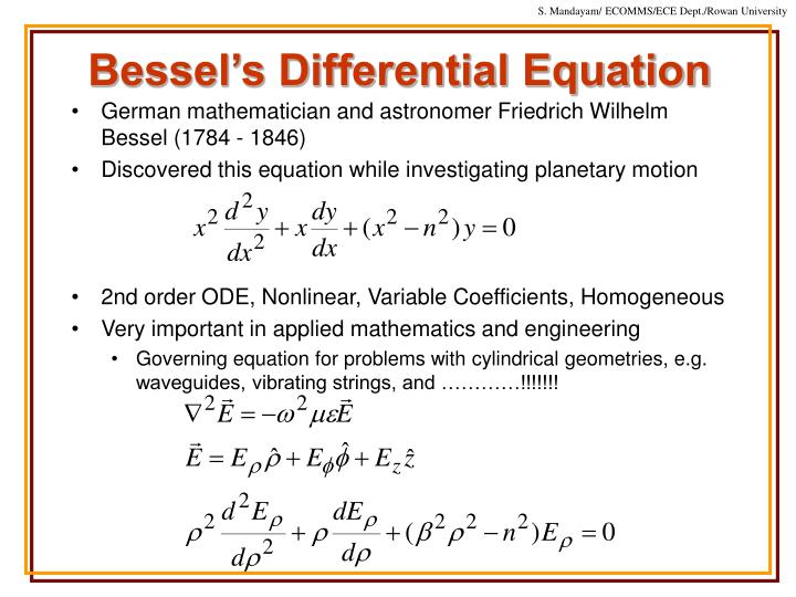 Bessel's Differential Equation