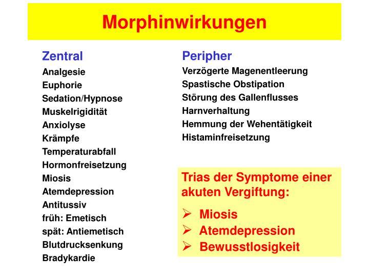 Morphinwirkungen