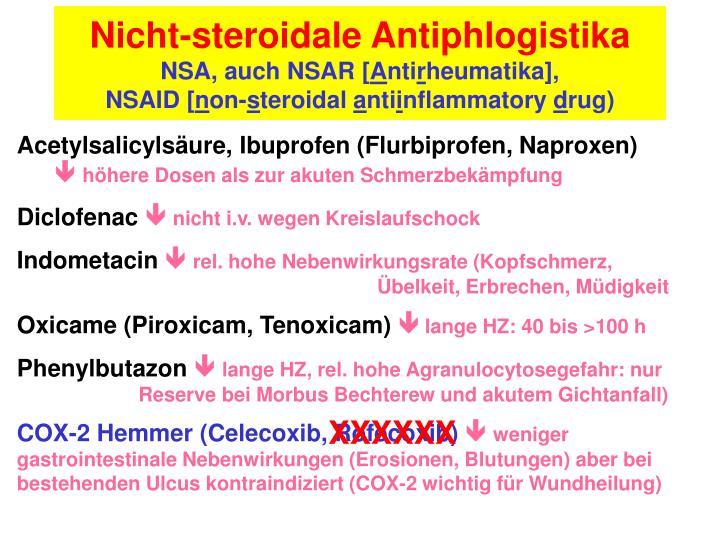 Nicht-steroidale Antiphlogistika