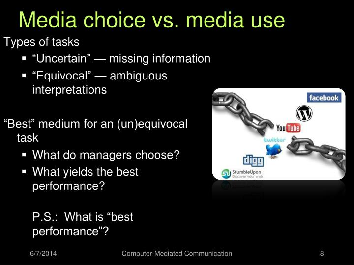 Media choice vs. media use