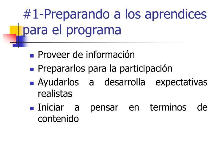 #1-Preparando a los aprendices para el programa