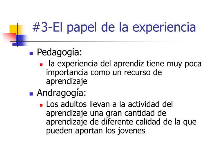 #3-El papel de la experiencia