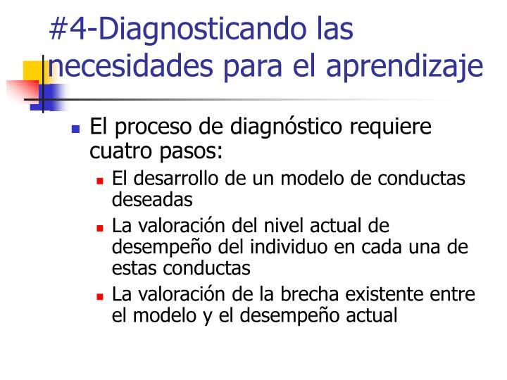 #4-Diagnosticando las necesidades para el aprendizaje