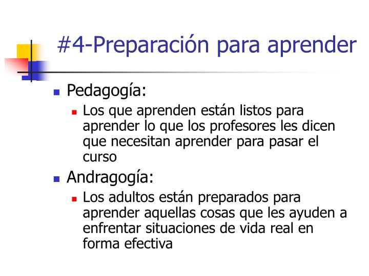 #4-Preparación para aprender
