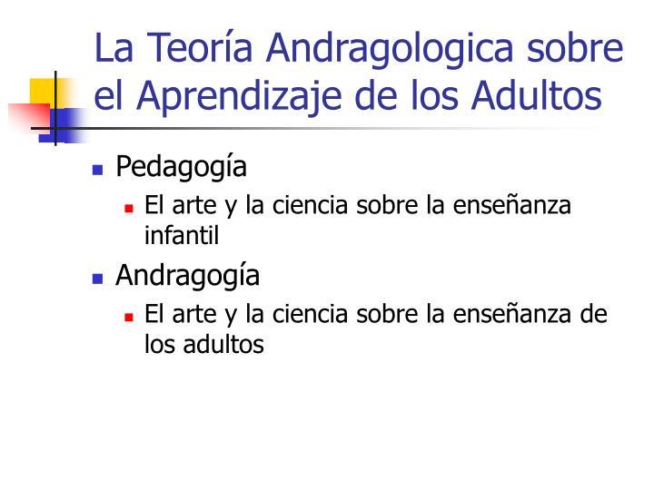 La Teoría Andragologica sobre el Aprendizaje de los Adultos