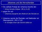johannes und die herrschenden
