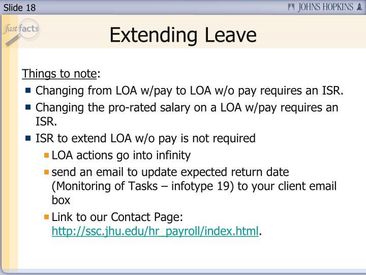 Extending Leave
