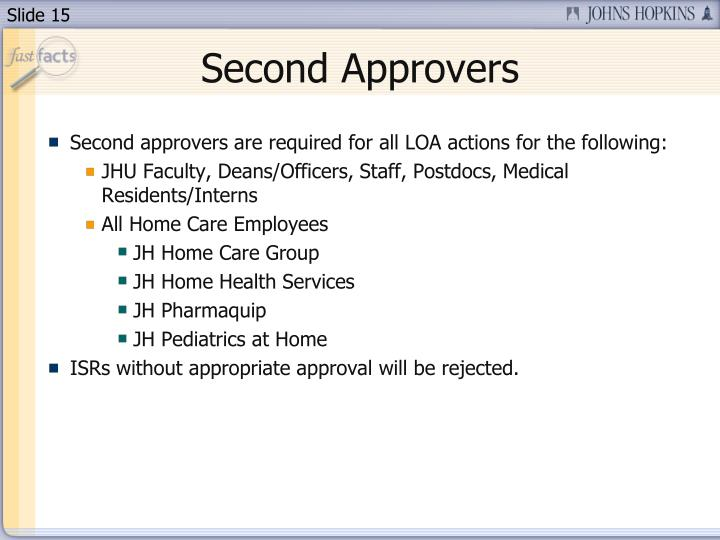 Second Approvers