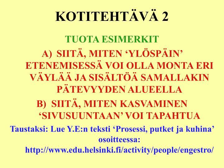 KOTITEHTÄVÄ 2