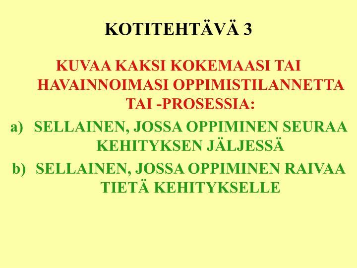 KOTITEHTÄVÄ 3