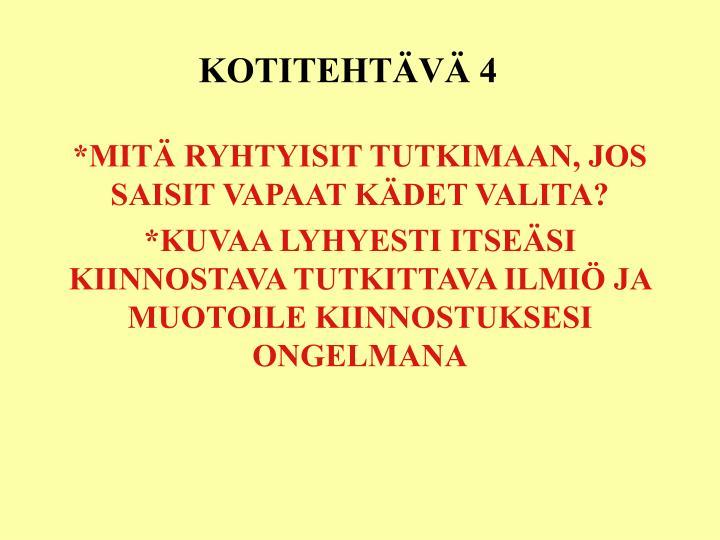 KOTITEHTÄVÄ 4