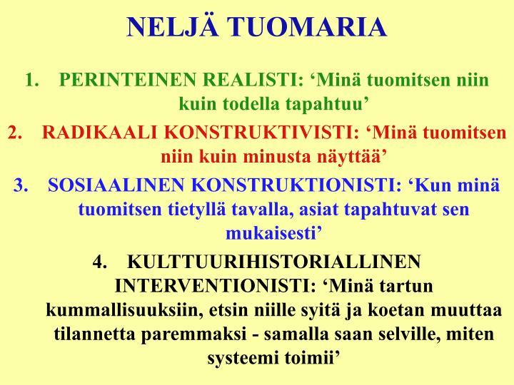NELJÄ TUOMARIA