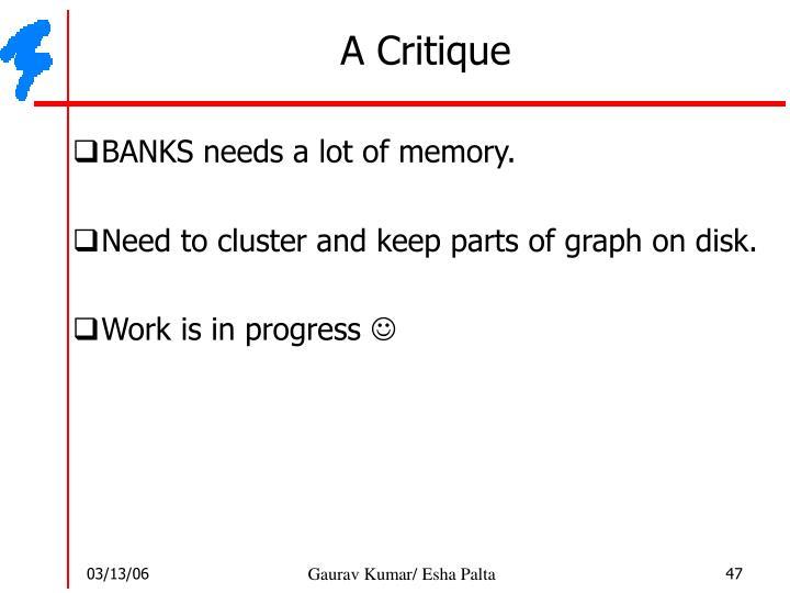 A Critique