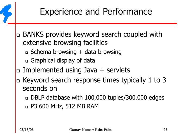 Experience and Performance