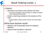 result ordering contd