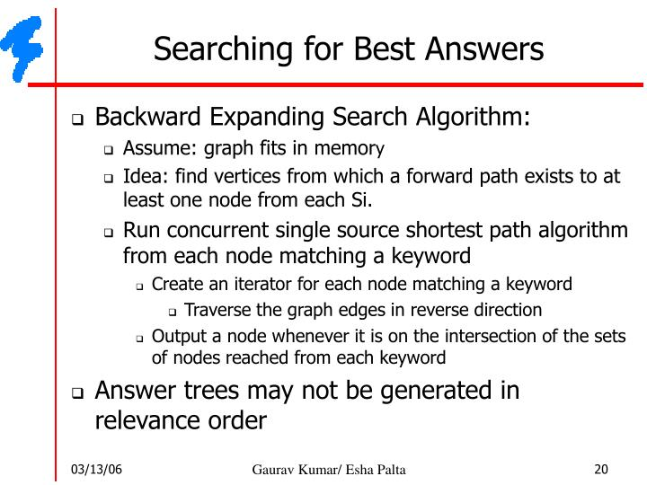 Searching for Best Answers