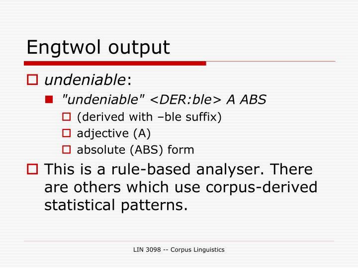 Engtwol output