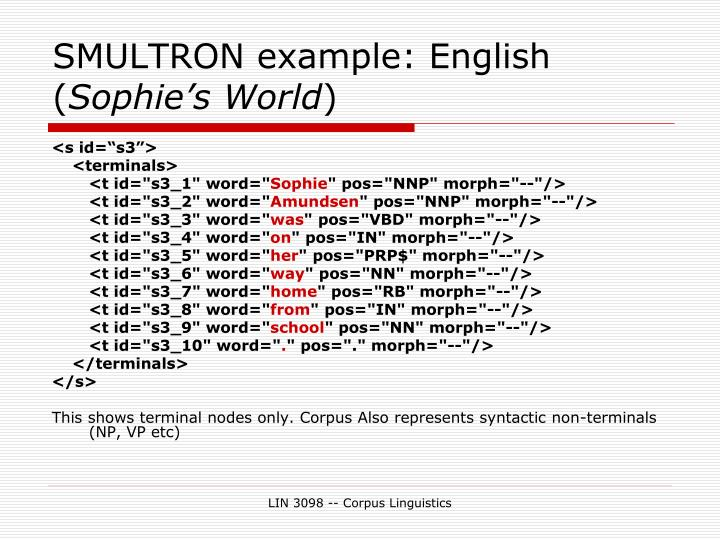 SMULTRON example: English (