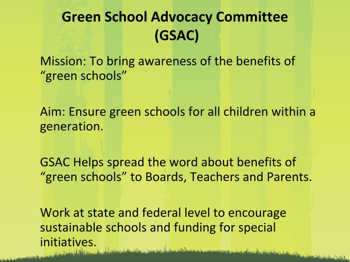 Green School Advocacy Committee