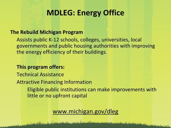 MDLEG: Energy Office