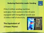 reducing electricity loads vending