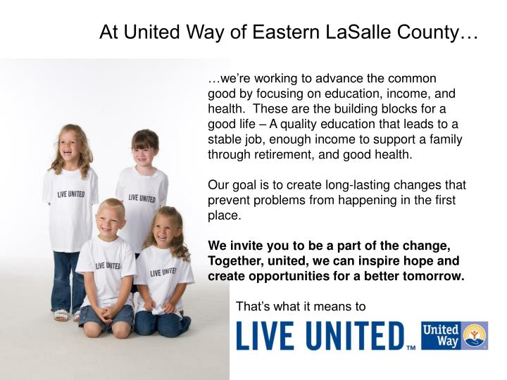 At United Way of Eastern LaSalle County…